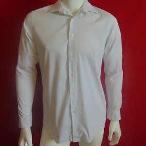 Apt 9 Dress Shirt Polka Dot Size 15.5